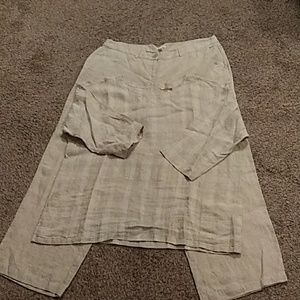 Eileen Fisher top and pants